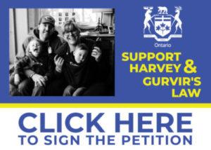 Support Harvey & Gurvir's Law